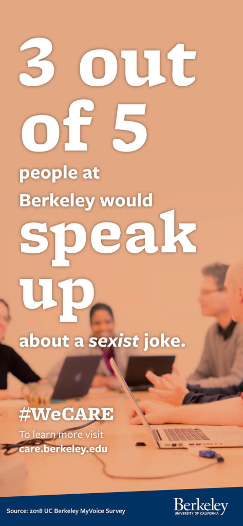 3 out of 5 people at Berkeley would speak up about a sexist joke.